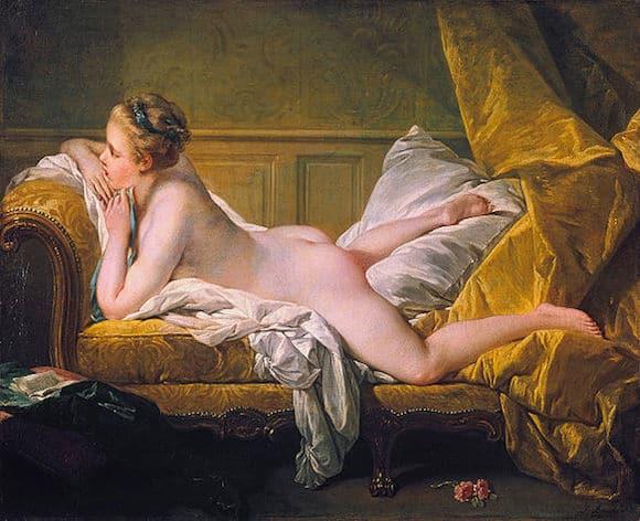 ציור בסגנון הרוקוקו של מרי לואיז או׳מרפי מאת פרנסואה בושה, 1752.