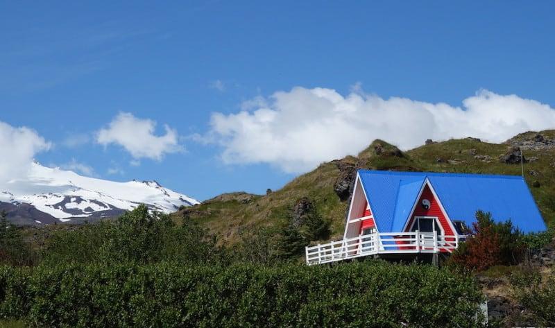 בית נופש באזור כפרי באיסלנד. צילום: דפני