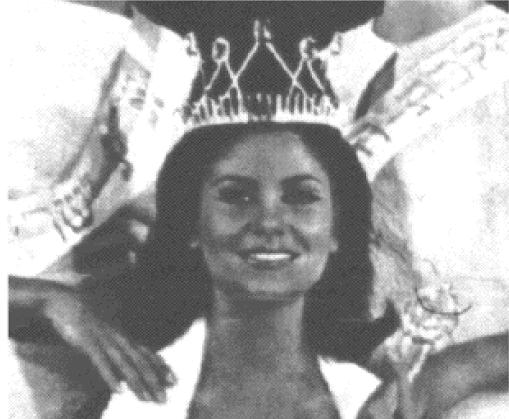 מלכת היופי לשנת 1966, אביבה ישראלי, סריקה מתוך גיליון ״לאישה״ מאותה שנה. צילום: סתו אקסנפלד.