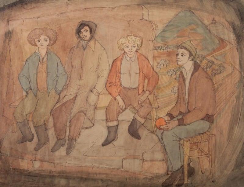 ציור של שרגא ווייל, באדיבות רון ברטוש.