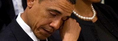 אובמה בוכה