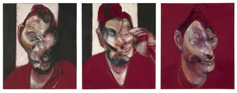 "טריפטיך ״ Three Studies for Self-Portait of Lucian Freud"" 1964, מאת פרנסיס בייקון באדיבות cea+"
