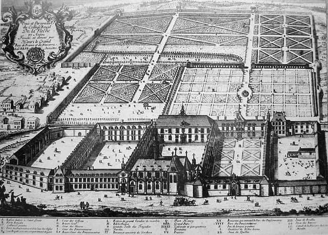 חריטה של הקולג' המלכותי בלה פלש מהמאה ה-18.