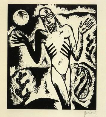 """""""הנביא במדבר"""", מאת ראובן רובין."""