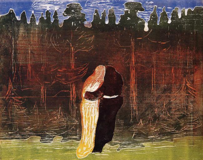 ״לקראת היער II״ מאת אדוארד מונק.
