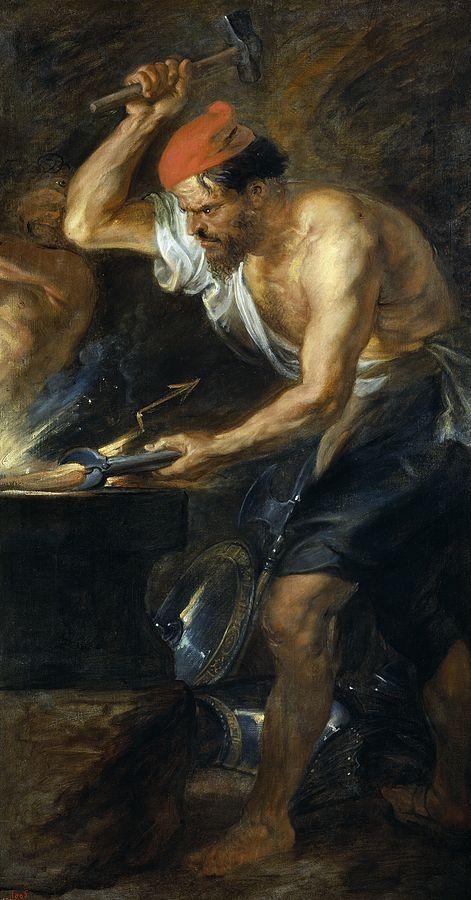וולקן, מאת פטר פאול רובנס, התלוי במוזיאו דל פראדו, מדריד.