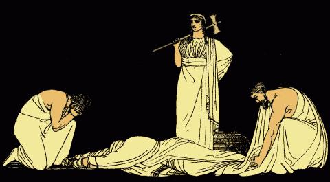 איור בעקבות המחזה ״אגממנון״ באדיבות פרויקט גוטנברג