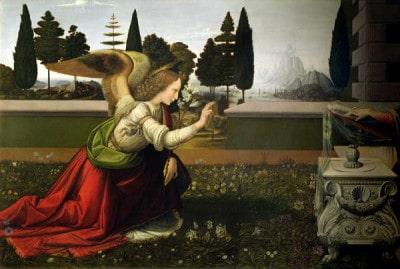 המלאך גבריאל, לאונרדו דה וינצ'י
