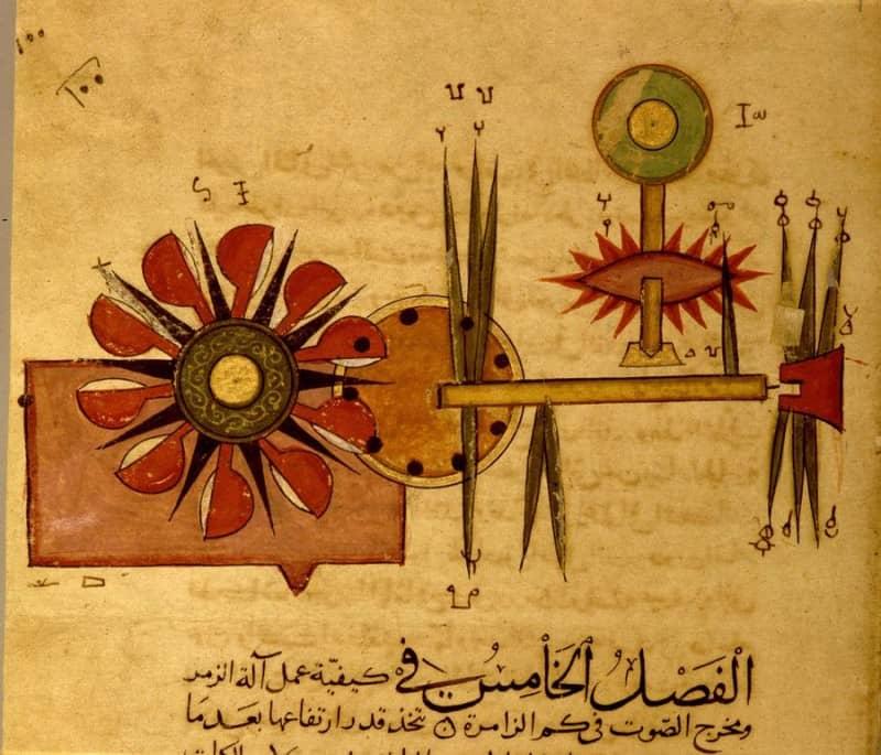 האוטומט של אל-גז'ירי, מיניאטורה ממלוכית (גטי אימג'ס)