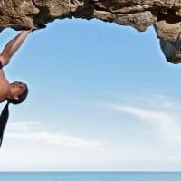 טיפוס סלעים מעל לים