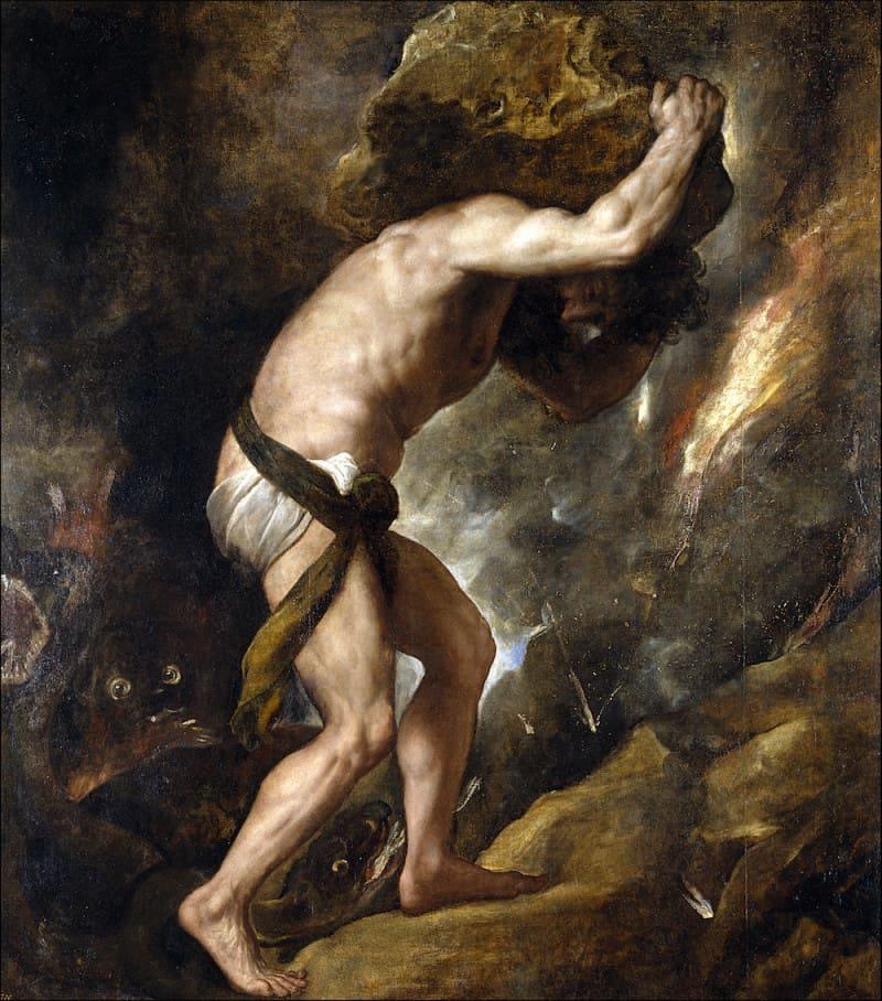סיזיפוס והסלע מאת טיציאן