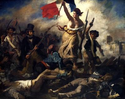 """""""החירות מובילה את העם"""": אז'ן דלקרואה"""
