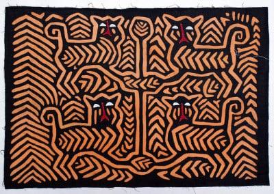 Mola, עבודה על בד, חלומות של נשות שבט Guna בפנמה.