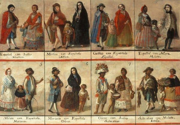 מתוך קטלוג סיווג של גזעים במקסיקו הקולוניאלית