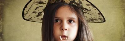 ילדה בהאלווין.