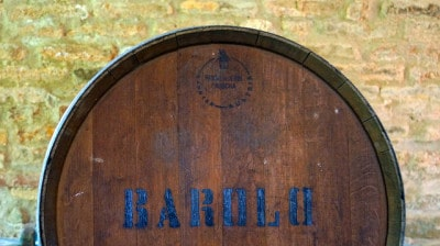 חבית של יין ברולו.
