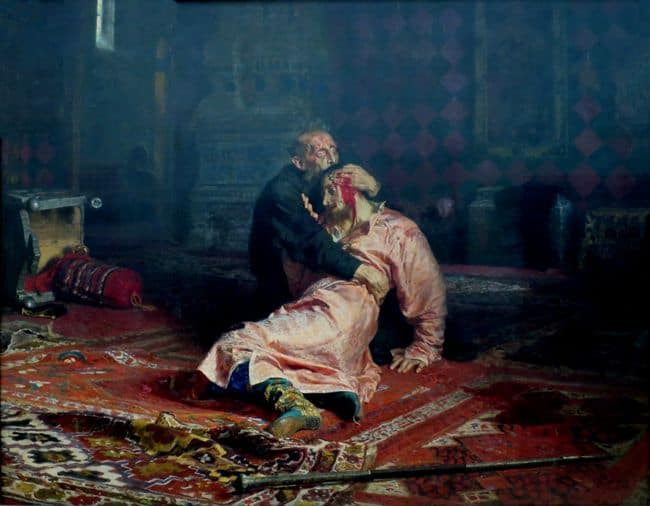 איוון האיום הורג את בנו, אליה רפין