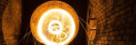 צמר פלדה נשרף
