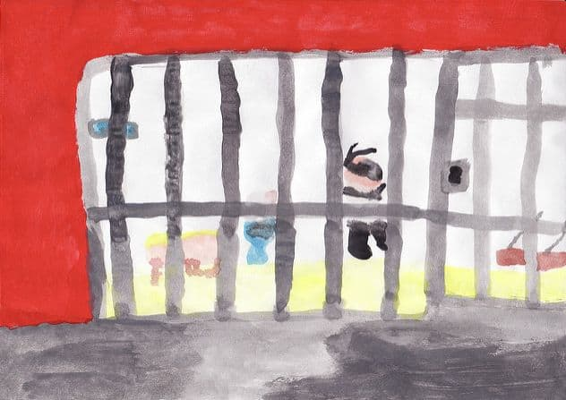 כלא, ציור של ילדה