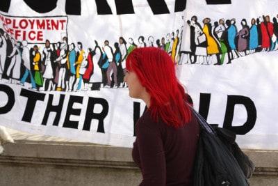 הפגנה נגד אבטלה, לונדון