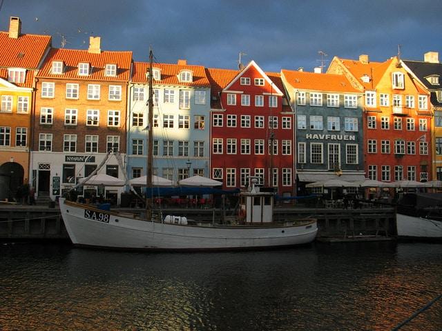 הנמל החדש, Nyhavn, קופנהאגן.