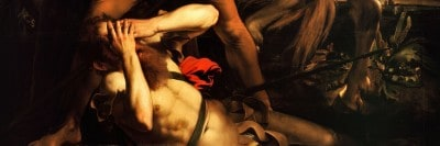 """""""המרת הדת של פאולוס הקדוש"""", מאת קרווג'יו."""