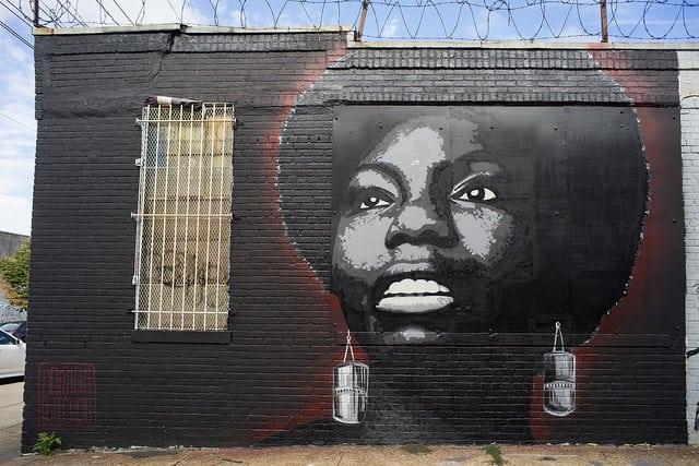 גרפיטי של נינה סימון, ברוקלין