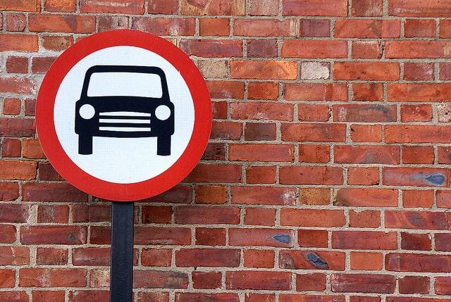 שלט על אזור ללא כלי רכב