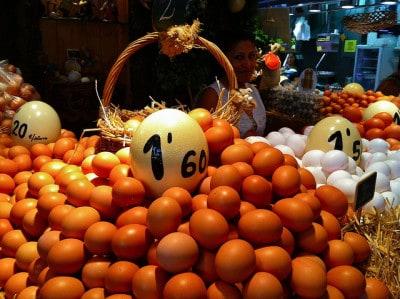 שוק בוקריה ברצלונה ביצים