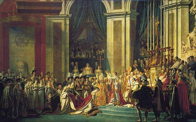"""""""הכתרת נפוליאון"""", ז'אק-לואי דויד (הושלם ב-1808). תצלום: ויקיפדיה"""