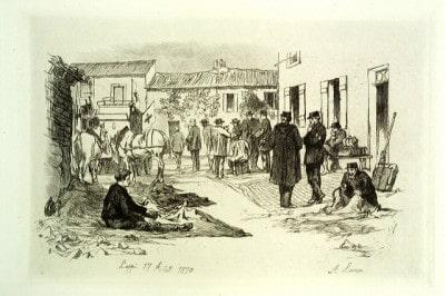 מלחמת צרפת פרוסיה תחריט איור
