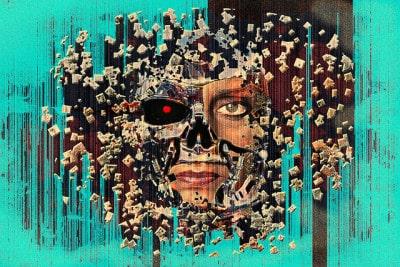 תמונת קיר של אינטליגנציה מלאכותית