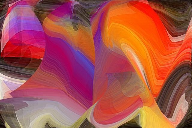 צורות אקראיות בצבע