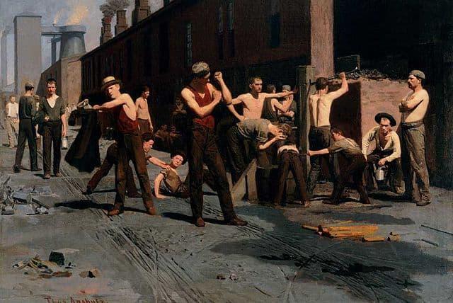 הפסקת הצהריים של עובדי מפעל הברזל, תומס אנשוץ