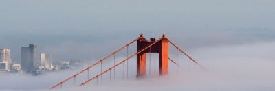 ערפל בגשר Golden Gate
