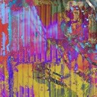 פח גלי עם צבעים