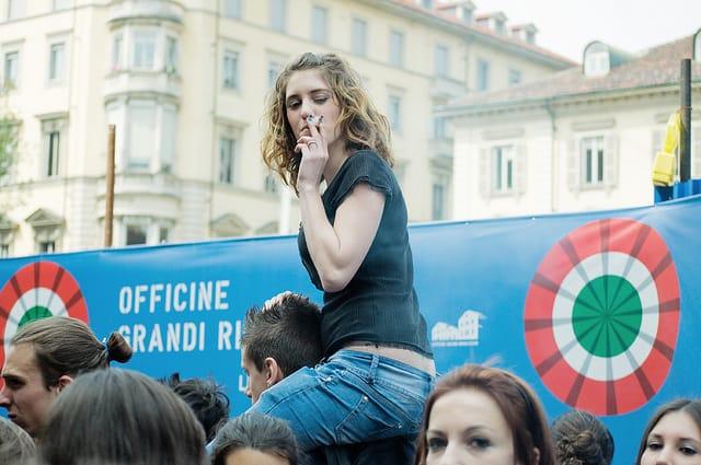 איטליה, הפגנה נגד קרן המטבע הבינלאומית