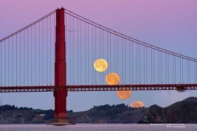 שקיעת הירח, גשר הזהב, Golden Gate