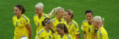 נבחרת שבדיה בכדורגל, נשים