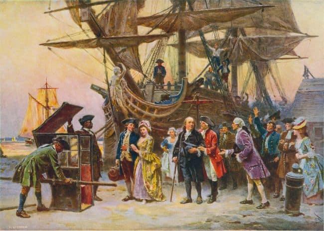 בנג'מין פרנקלין שב לפילדלפיה, 1785