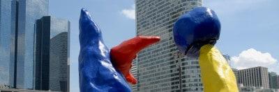 """פסל של מירו ב""""לה דפאנס"""""""
