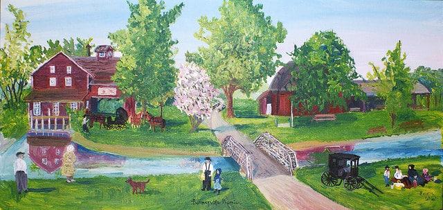 ציור של אמה שרוק, מהקהילה המנוניטית באינדיאנה