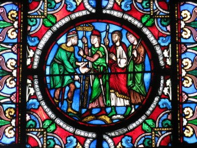 ויטראז' בבזיליקת סן-דני בפריס.