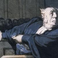 סצנת בית משפט, אונורה דומייה, Daumier