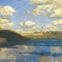 אגם, יצחק לויתן, ציור נוף רוסי