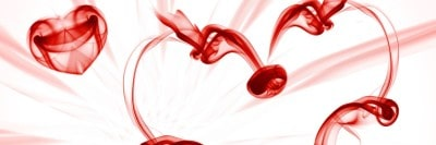 עשן אדום על רקע לבן, לבבות