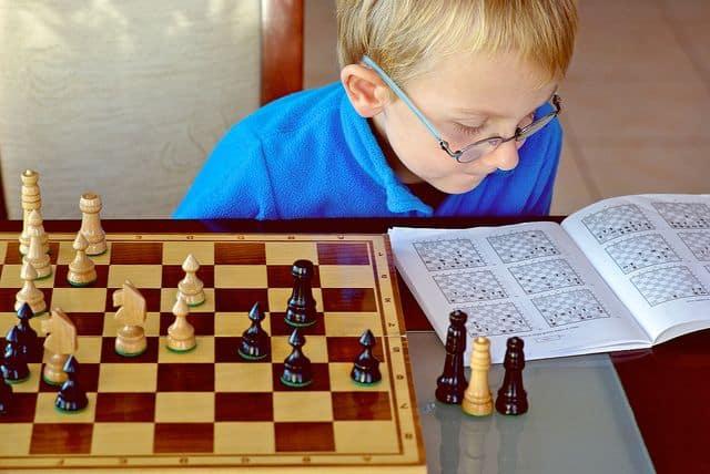 ילד, שחמט, לומד