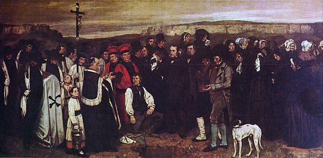 גוסטב קורבה, קבורה באורנאן