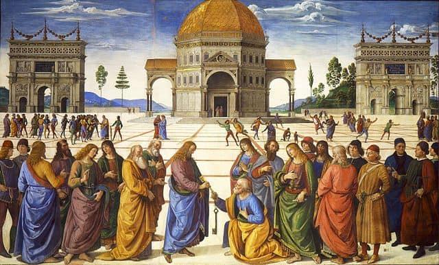 פרוג'ינו, ישו מעניק את מפתחות השמיים לפטרוס
