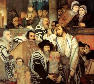 מאוריצי גוטליב, יום כיפור, יהודים מתפללים